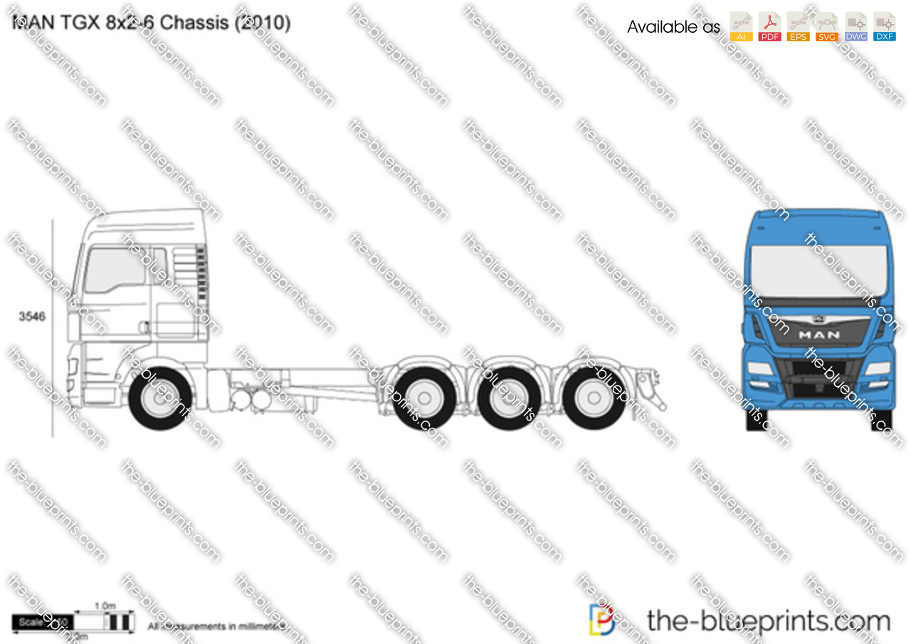 MAN TGX 8x2-6 Chassis