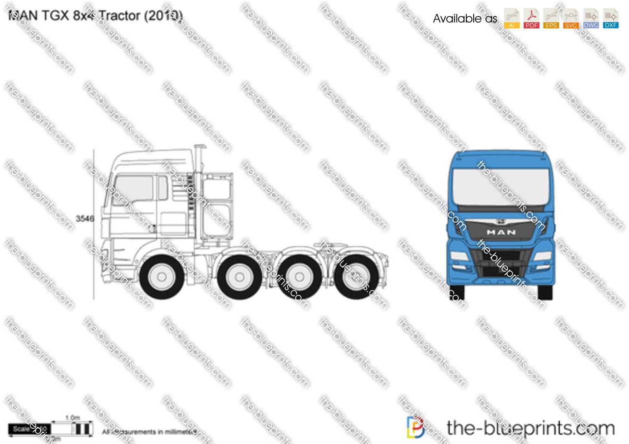 MAN TGX 8x4 Tractor 2018