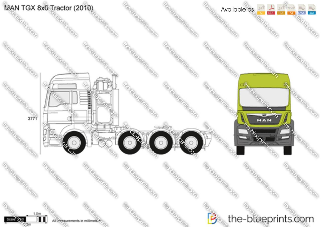 MAN TGX 8x6 Tractor 2011