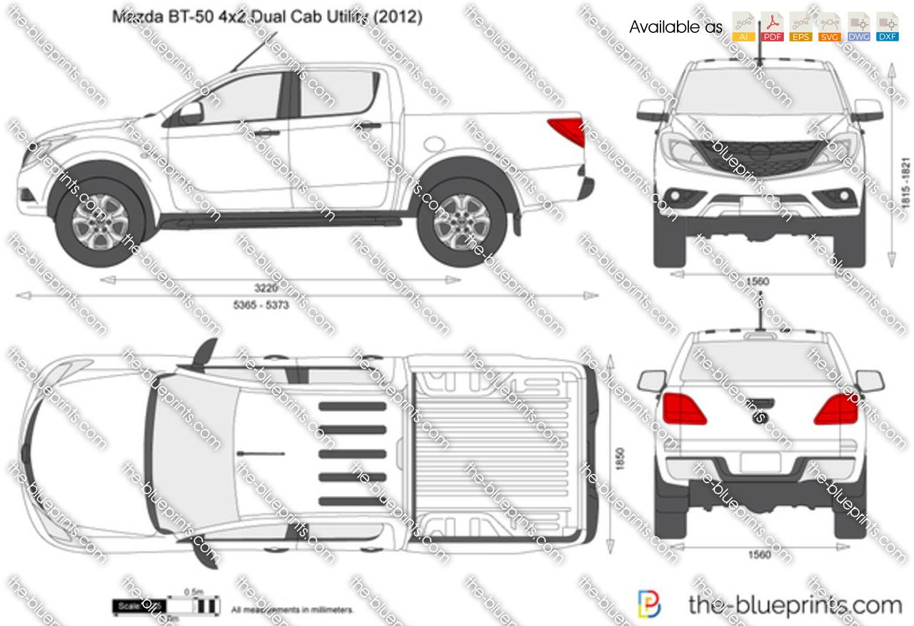 Mazda BT-50 4x2 Dual Cab Utility 2014