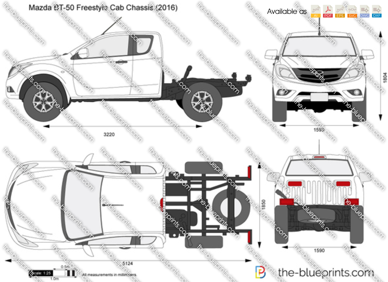 Mazda BT-50 Freestyle Cab Chassis
