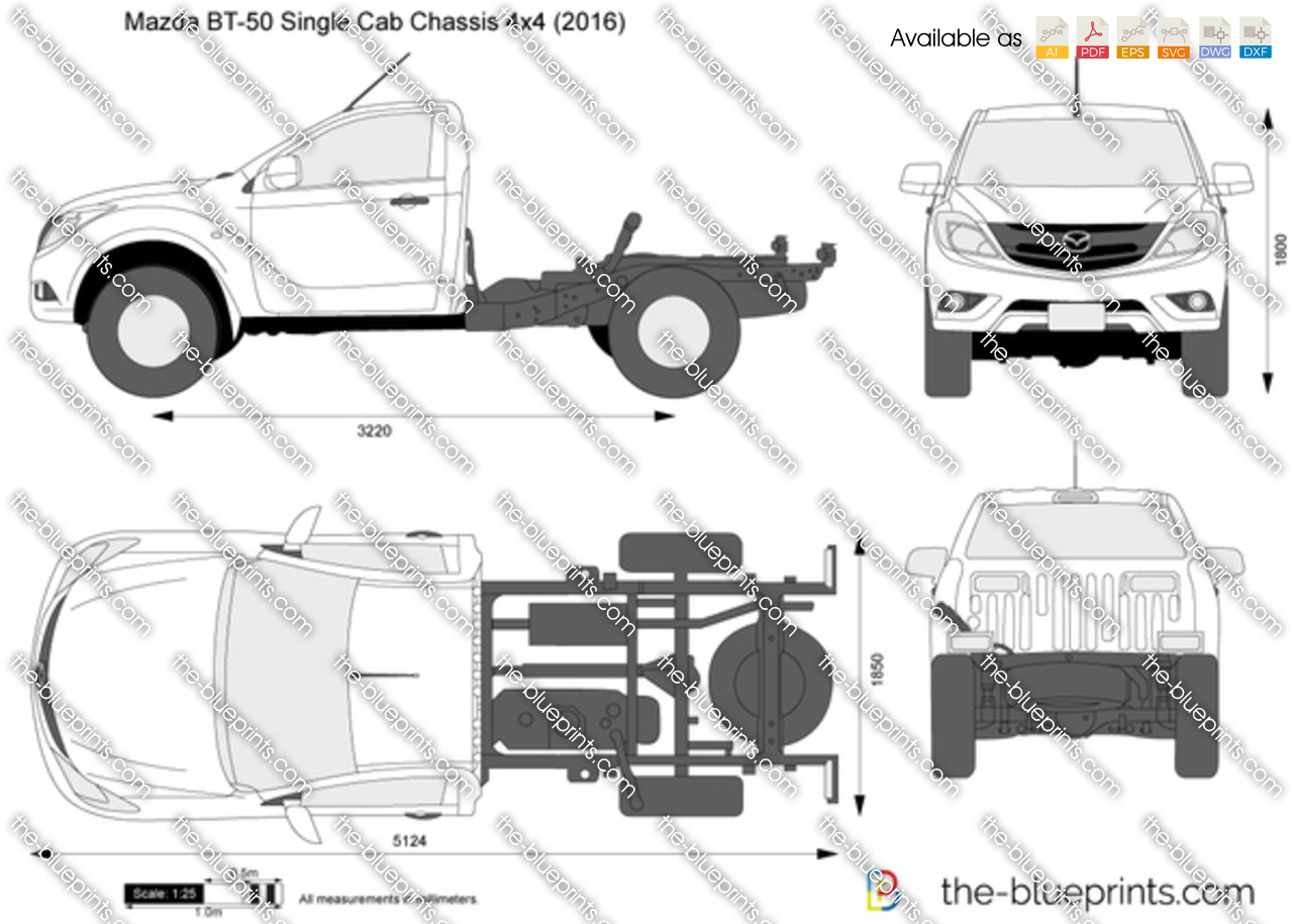 2017 Mazda BT-50 Single Cab Chassis 4x4