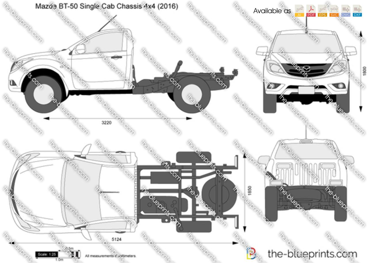 Mazda BT-50 Single Cab Chassis 4x4 2019