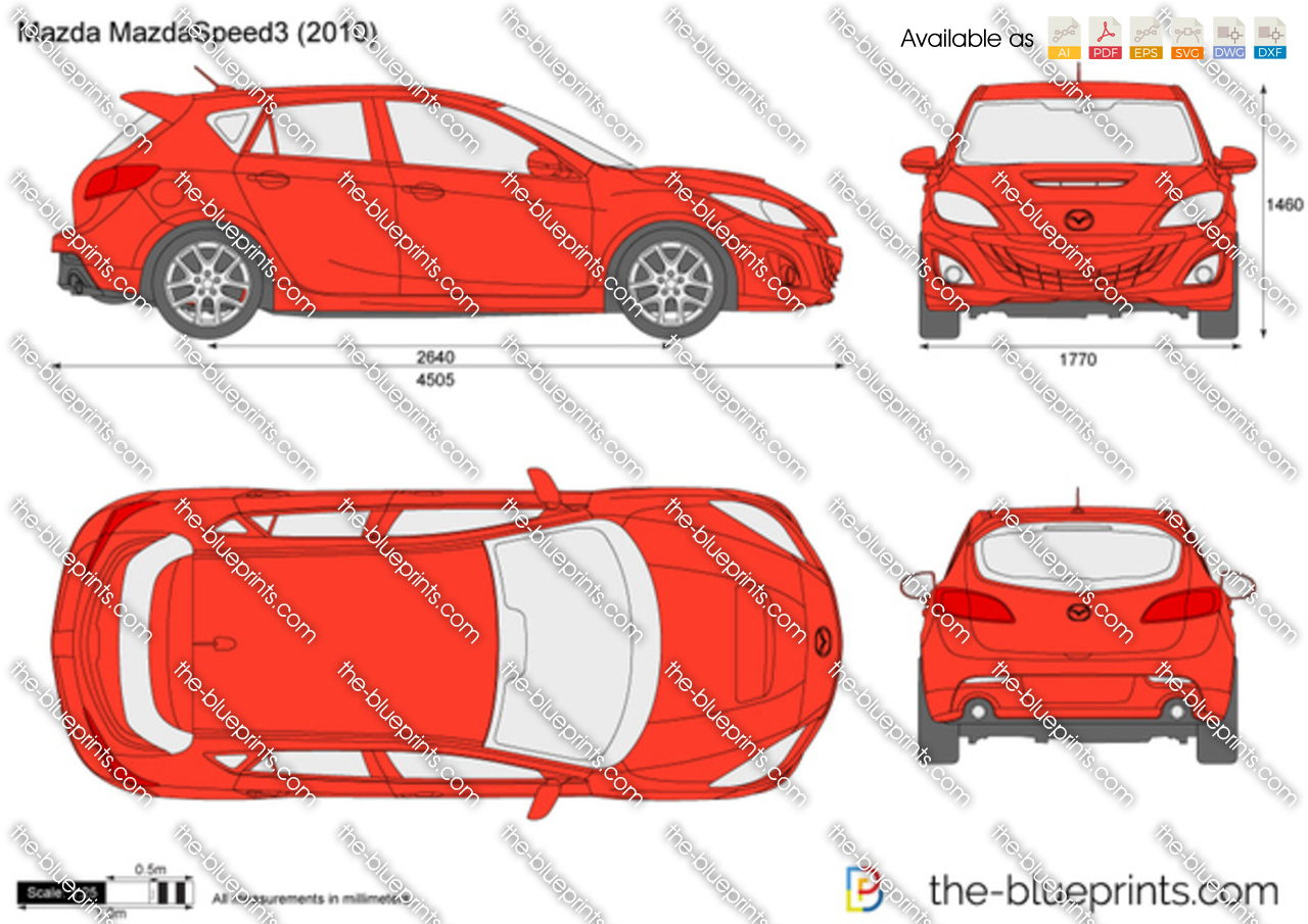the vector drawing mazda mazdaspeed3. Black Bedroom Furniture Sets. Home Design Ideas