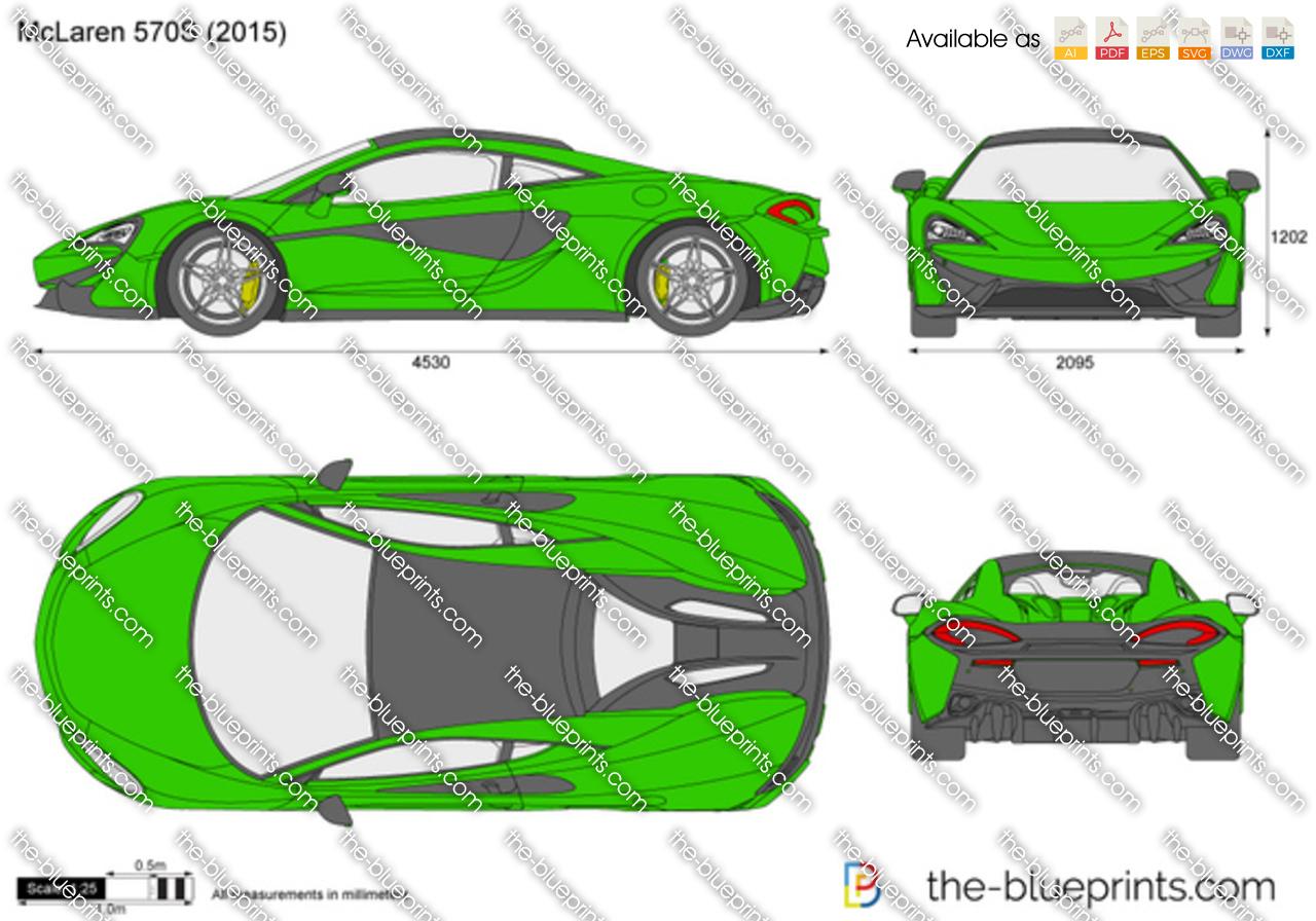 Mclaren 570s Vector Drawing