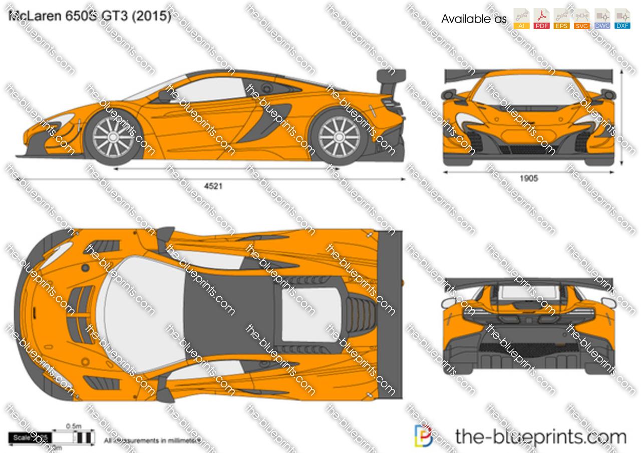 McLaren 650S GT3 vector drawing