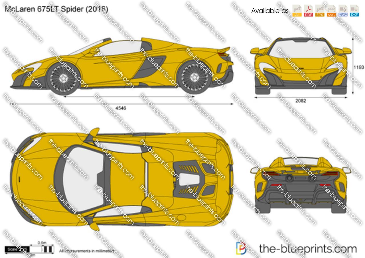 Mclaren 675lt Spider Vector Drawing