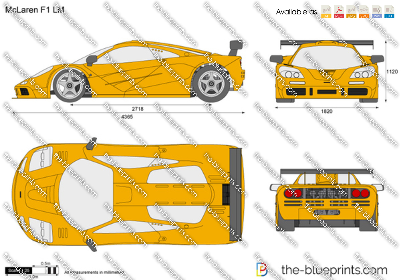 Mclaren F1 Lm Vector Drawing