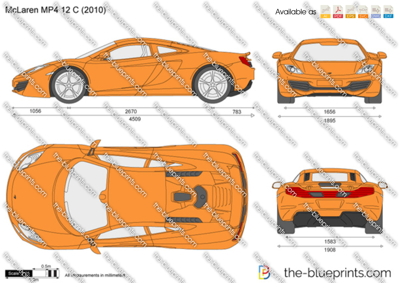 The Blueprints Com Vector Drawing Mclaren Mp4 12 C