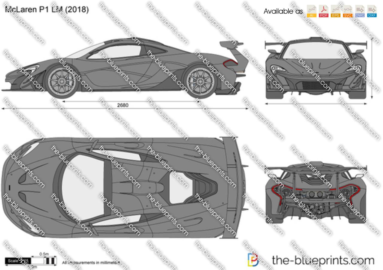 2018 Mclaren P1 Price >> McLaren P1 LM vector drawing