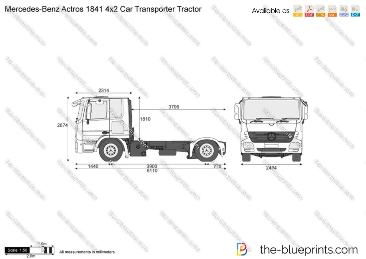 Mercedes-Benz Actros 1841 4x2 Car Transporter Tractor