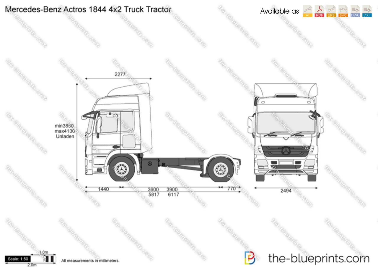 Mercedes-Benz Actros 1844 4x2 Truck Tractor