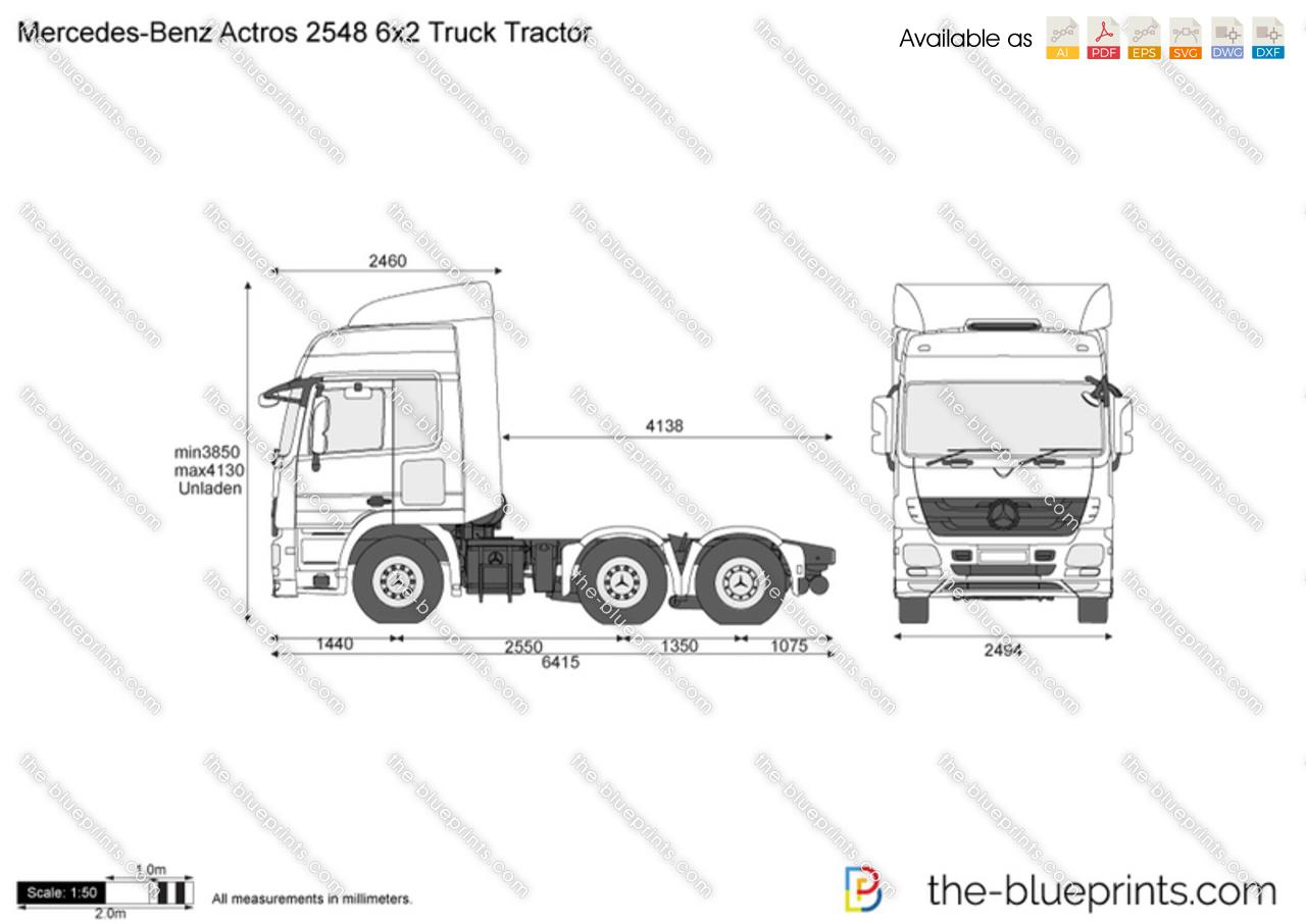 Mercedes-Benz Actros 2548 6x2 Truck Tractor
