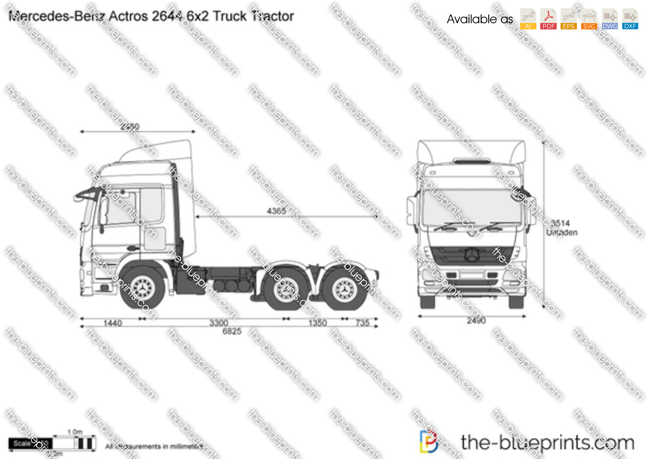 Mercedes-Benz Actros 2644 6x2 Truck Tractor