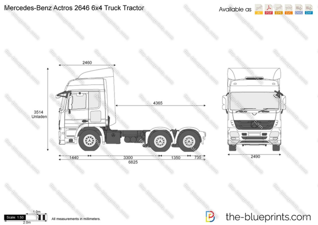 Mercedes-Benz Actros 2646 6x4 Truck Tractor
