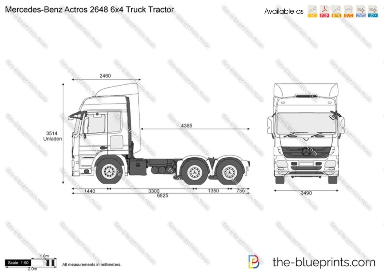 Mercedes-Benz Actros 2648 6x4 Truck Tractor
