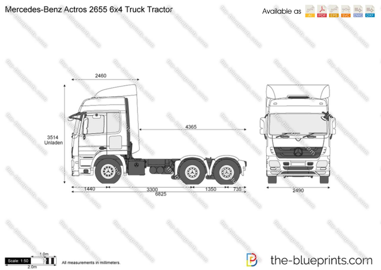 Mercedes-Benz Actros 2655 6x4 Truck Tractor