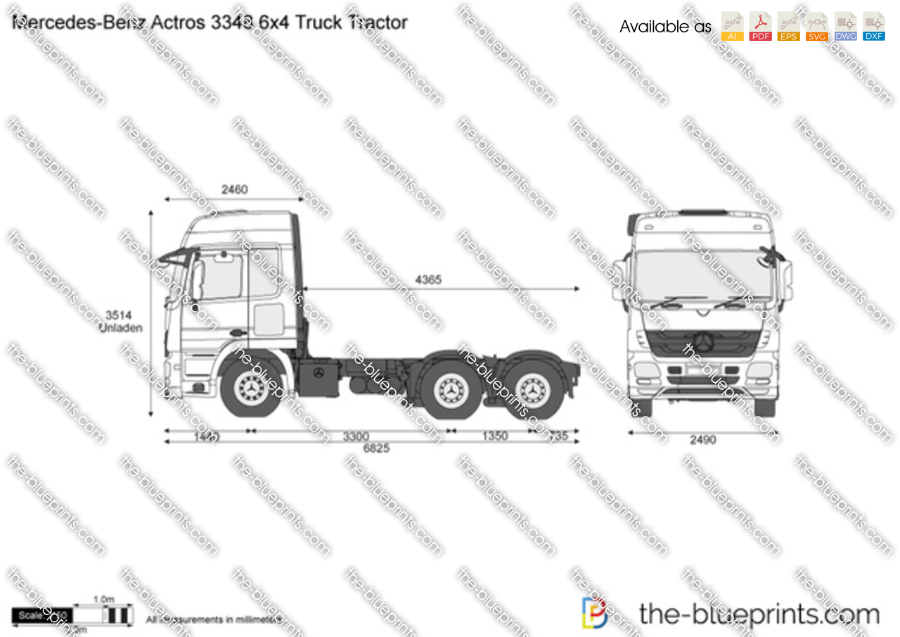 Mercedes-Benz Actros 3348 6x4 Truck Tractor