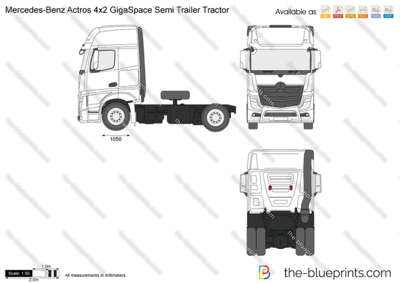 Mercedes-Benz Actros 4x2 GigaSpace Semi Trailer Tractor