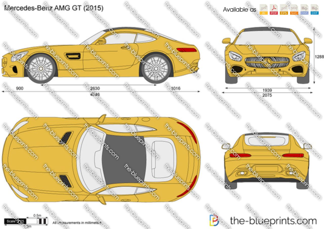 Mercedes-Benz AMG GT vector drawing