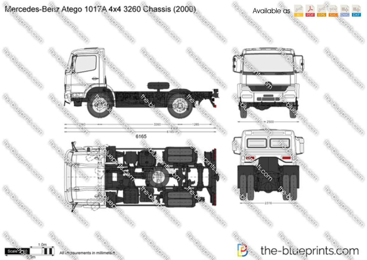 The Vector Drawing Mercedes Benz Atego