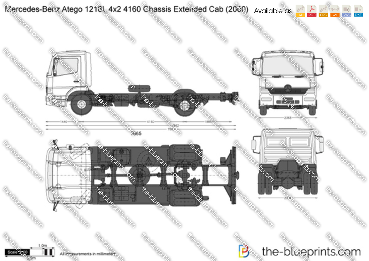 Mercedes-Benz Atego 1218L 4x2 4160 Chassis Extended Cab
