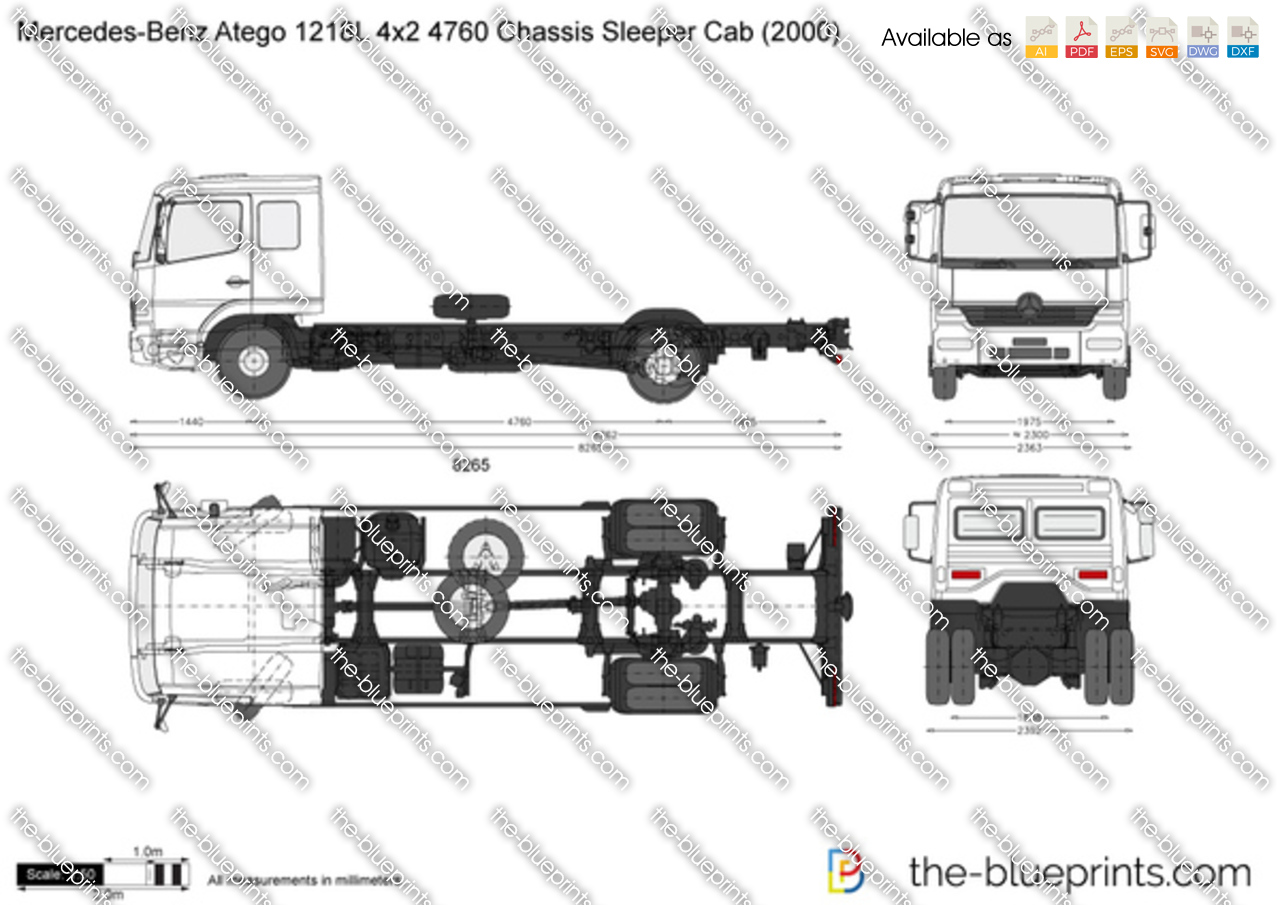 Mercedes-Benz Atego 1218L 4x2 4760 Chassis Sleeper Cab