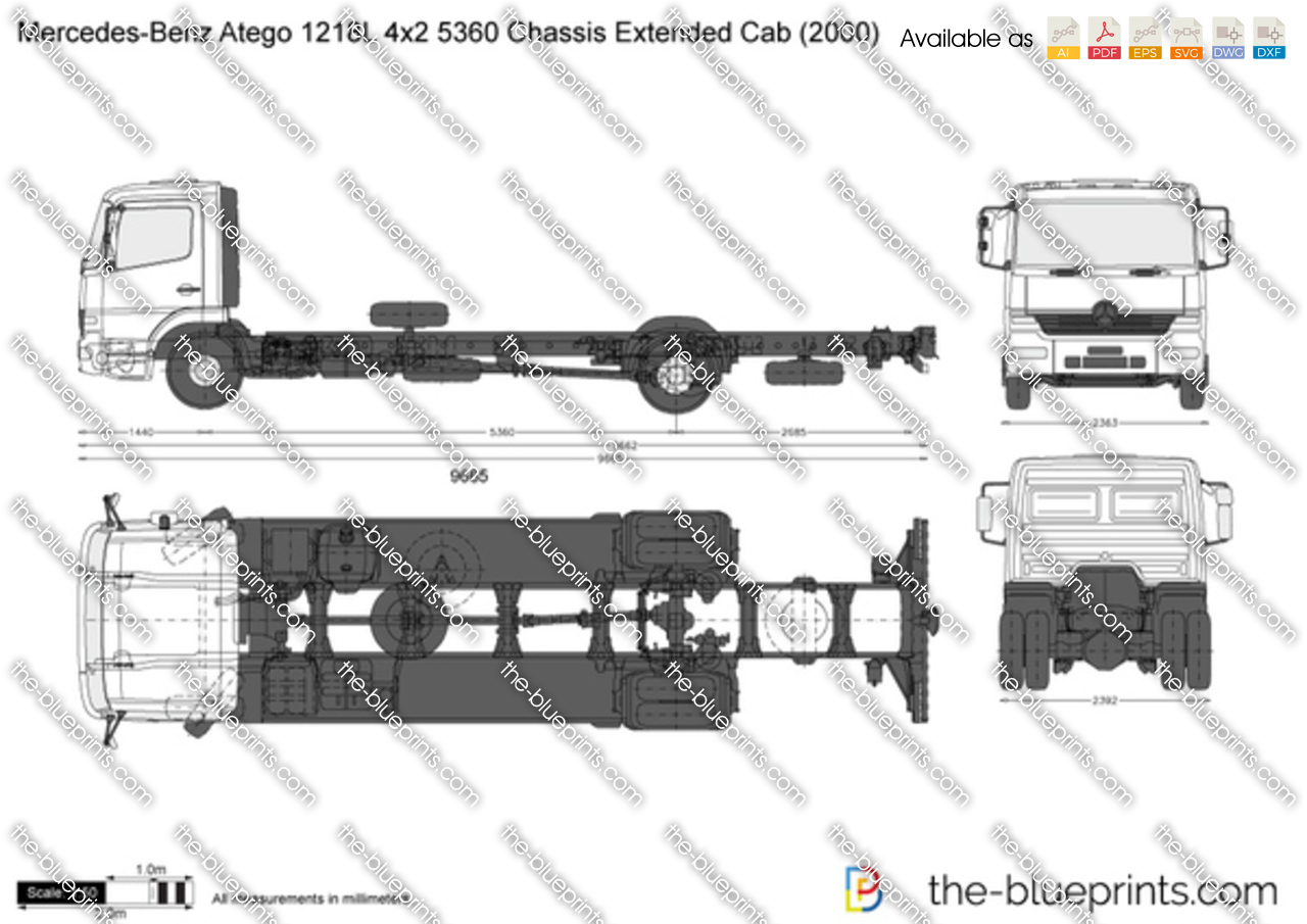 Mercedes-Benz Atego 1218L 4x2 5360 Chassis Extended Cab