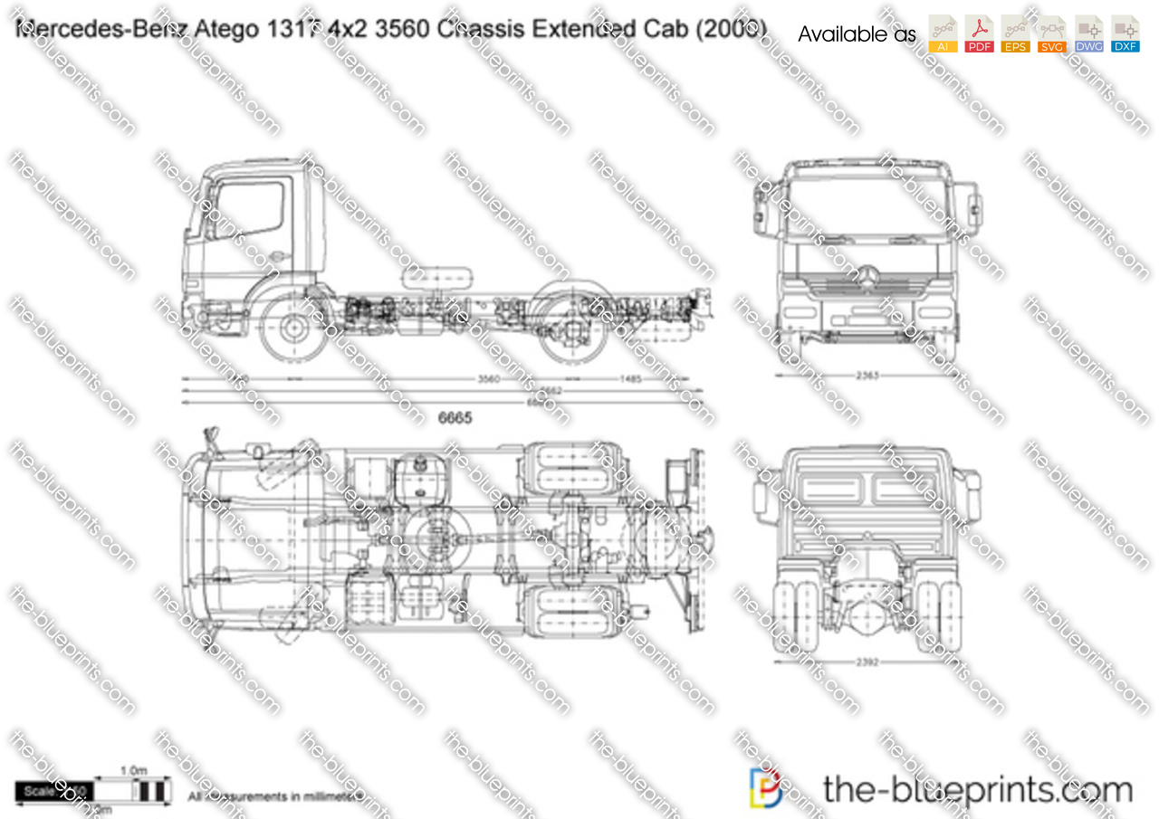Mercedes-Benz Atego 1317 4x2 3560 Chassis Extended Cab
