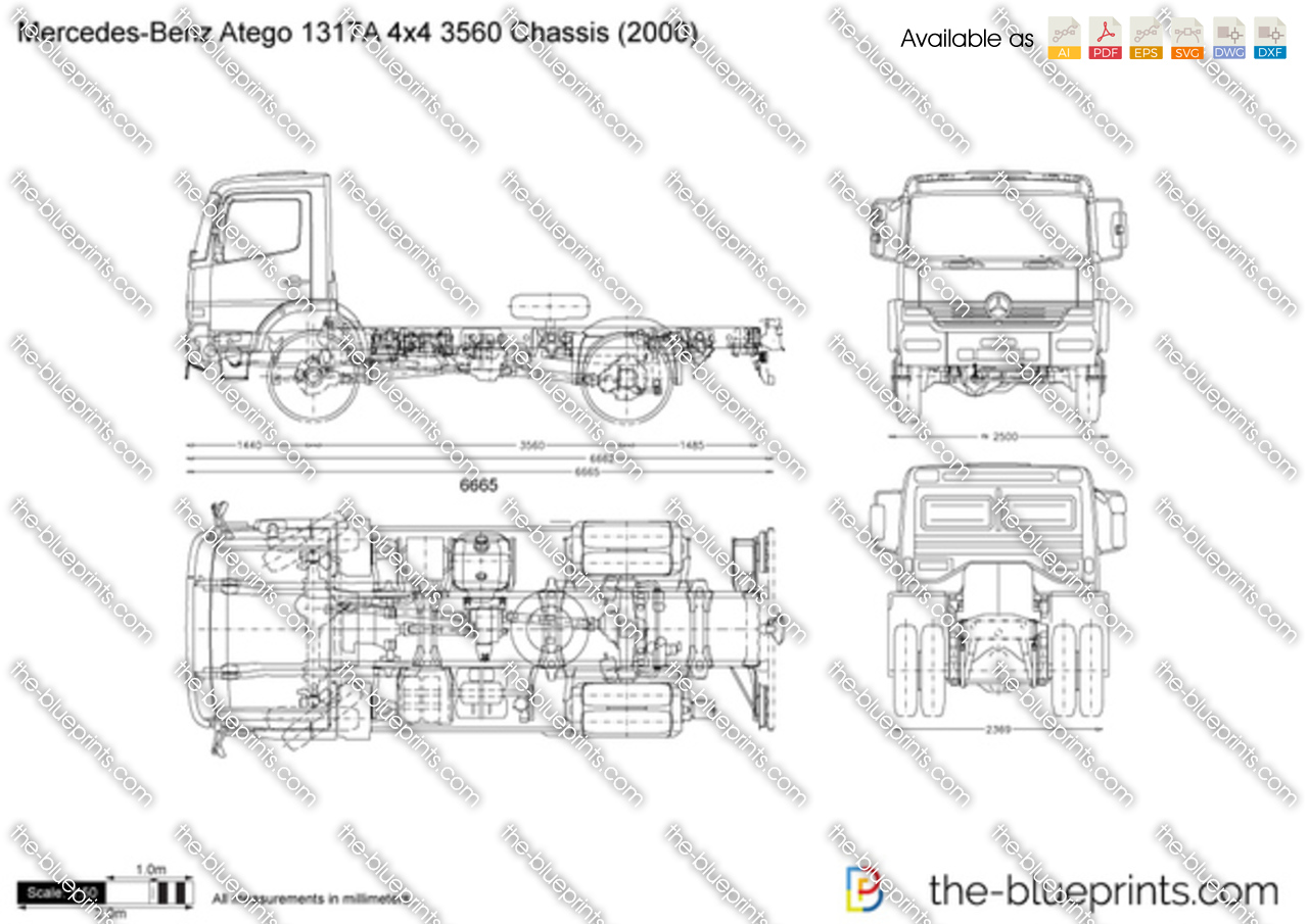 Mercedes-Benz Atego 1317A 4x4 3560 Chassis