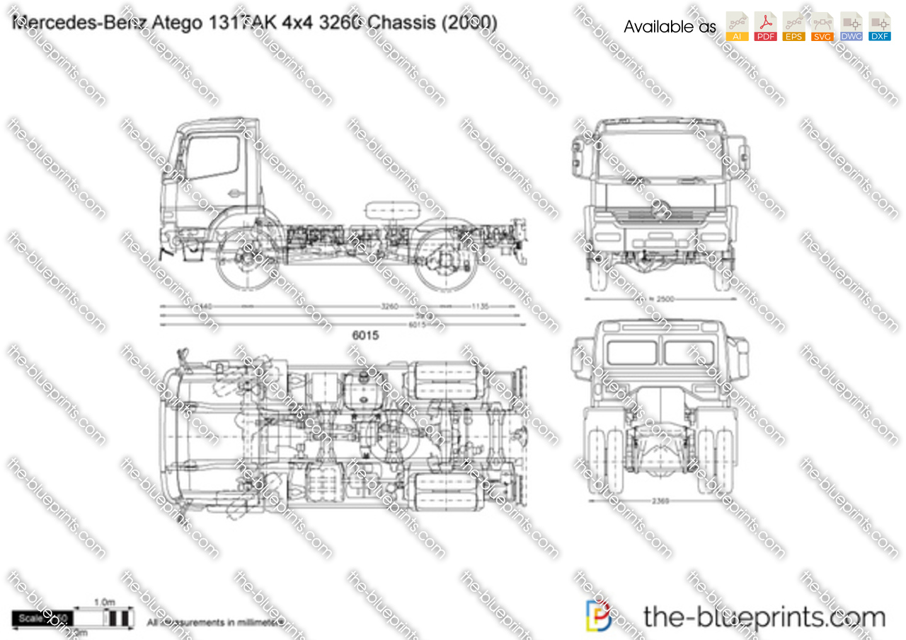 Mercedes-Benz Atego 1317AK 4x4 3260 Chassis