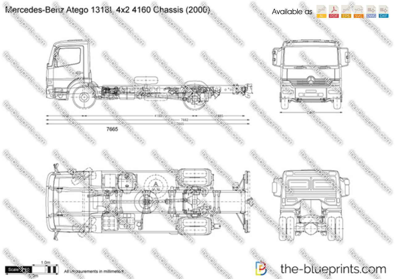 Mercedes-Benz Atego 1318L 4x2 4160 Chassis