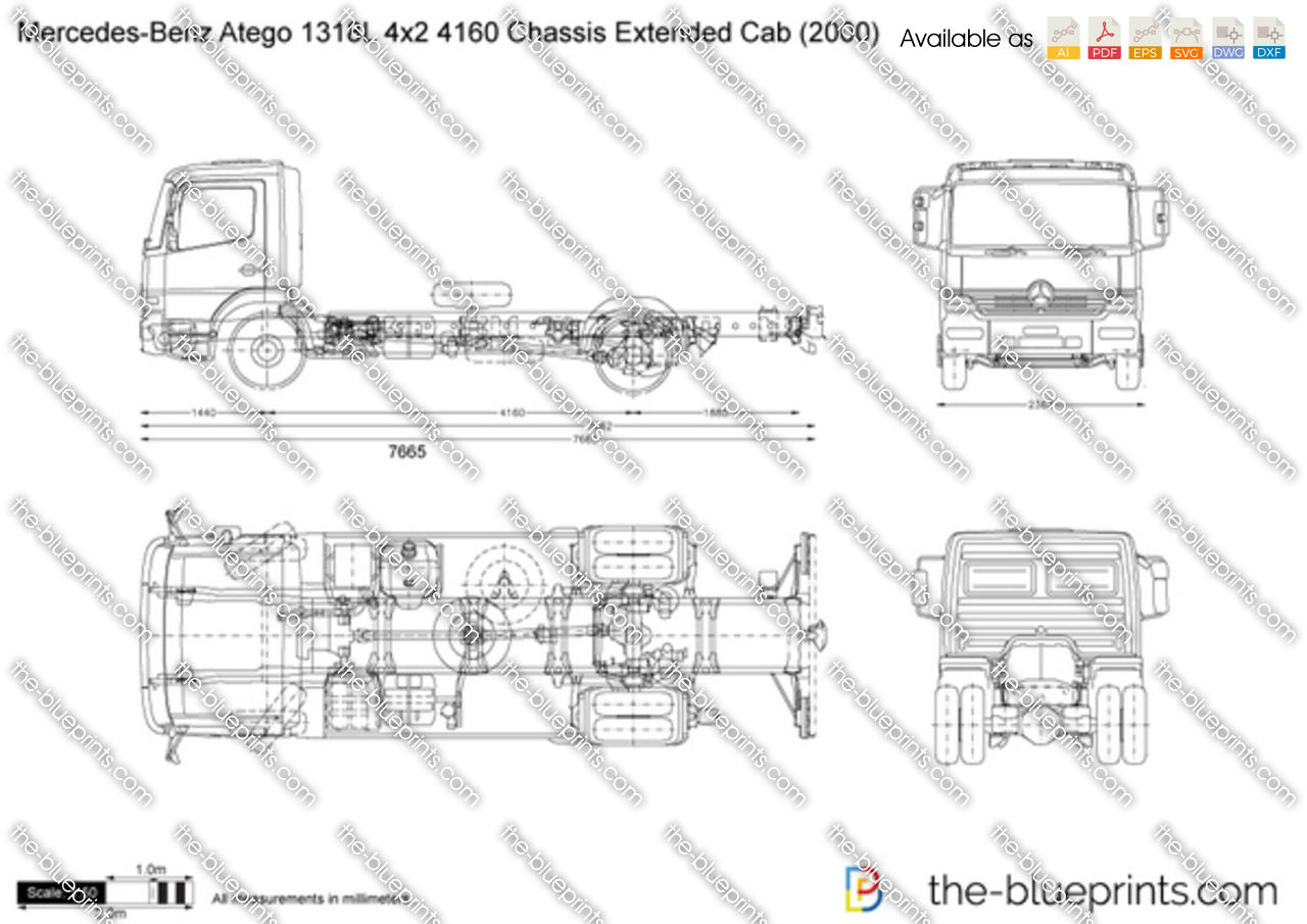 Mercedes-Benz Atego 1318L 4x2 4160 Chassis Extended Cab