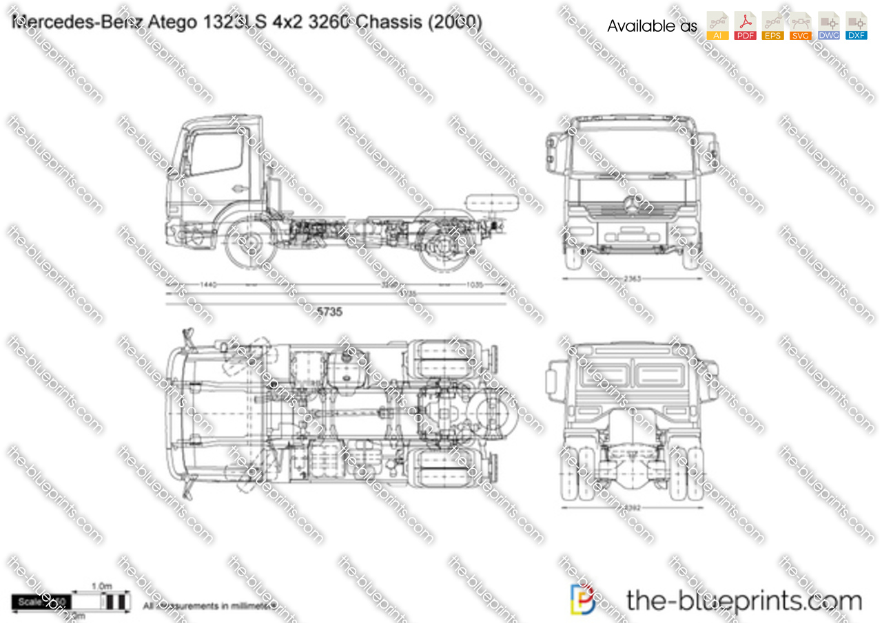 Mercedes-Benz Atego 1323LS 4x2 3260 Chassis