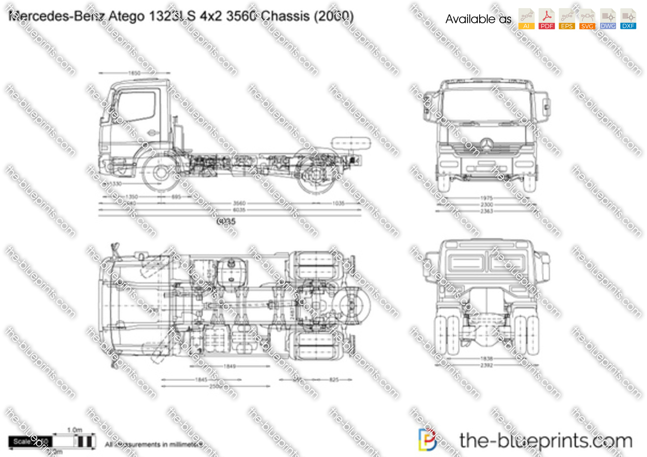 Mercedes-Benz Atego 1323LS 4x2 3560 Chassis