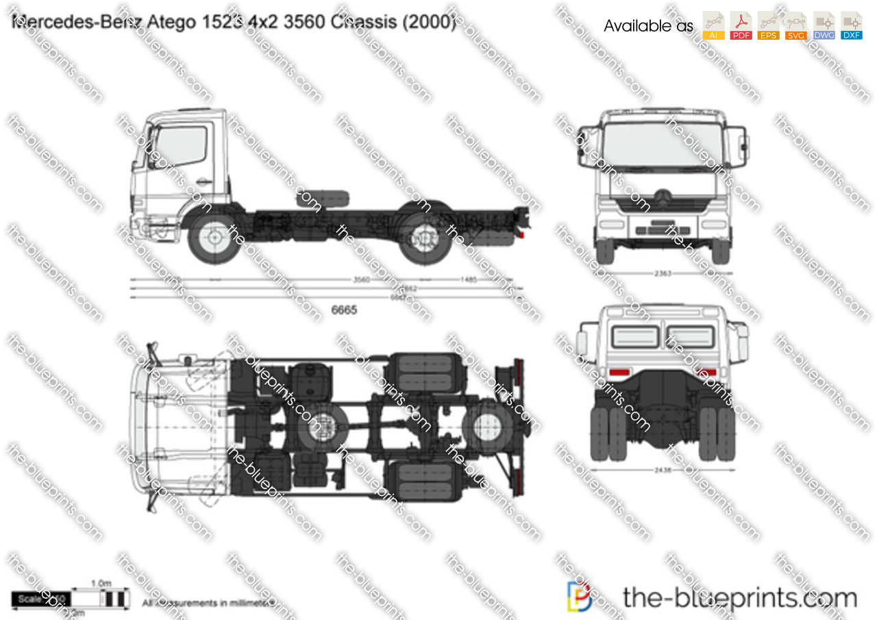 Mercedes-Benz Atego 1523 4x2 3560 Chassis
