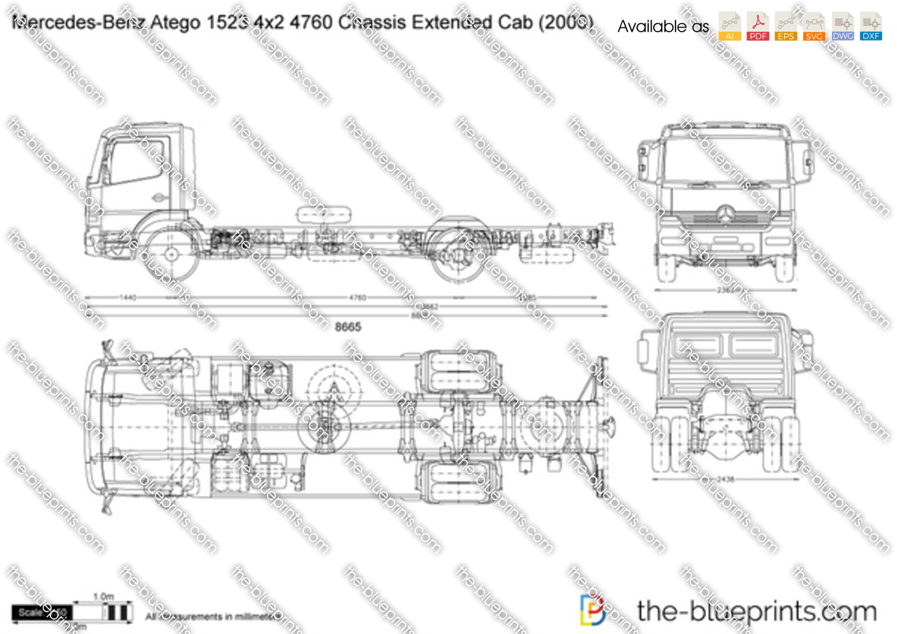 Mercedes-Benz Atego 1523 4x2 4760 Chassis Extended Cab