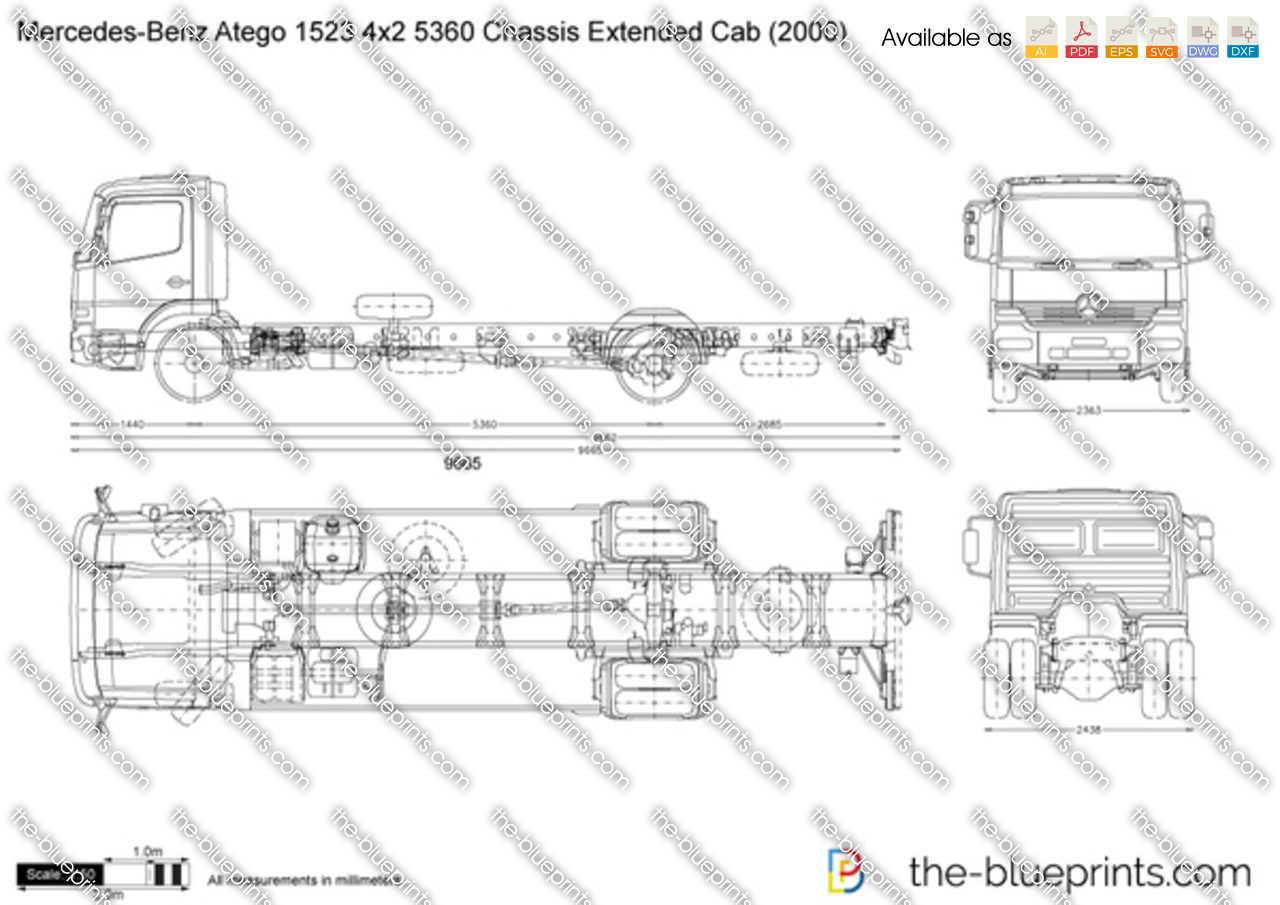 Mercedes-Benz Atego 1523 4x2 5360 Chassis Extended Cab