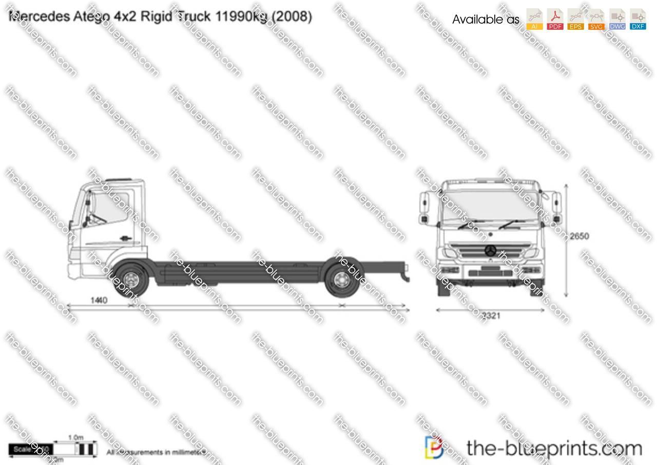 Mercedes-Benz Atego 4x2 Rigid Truck 11990kg