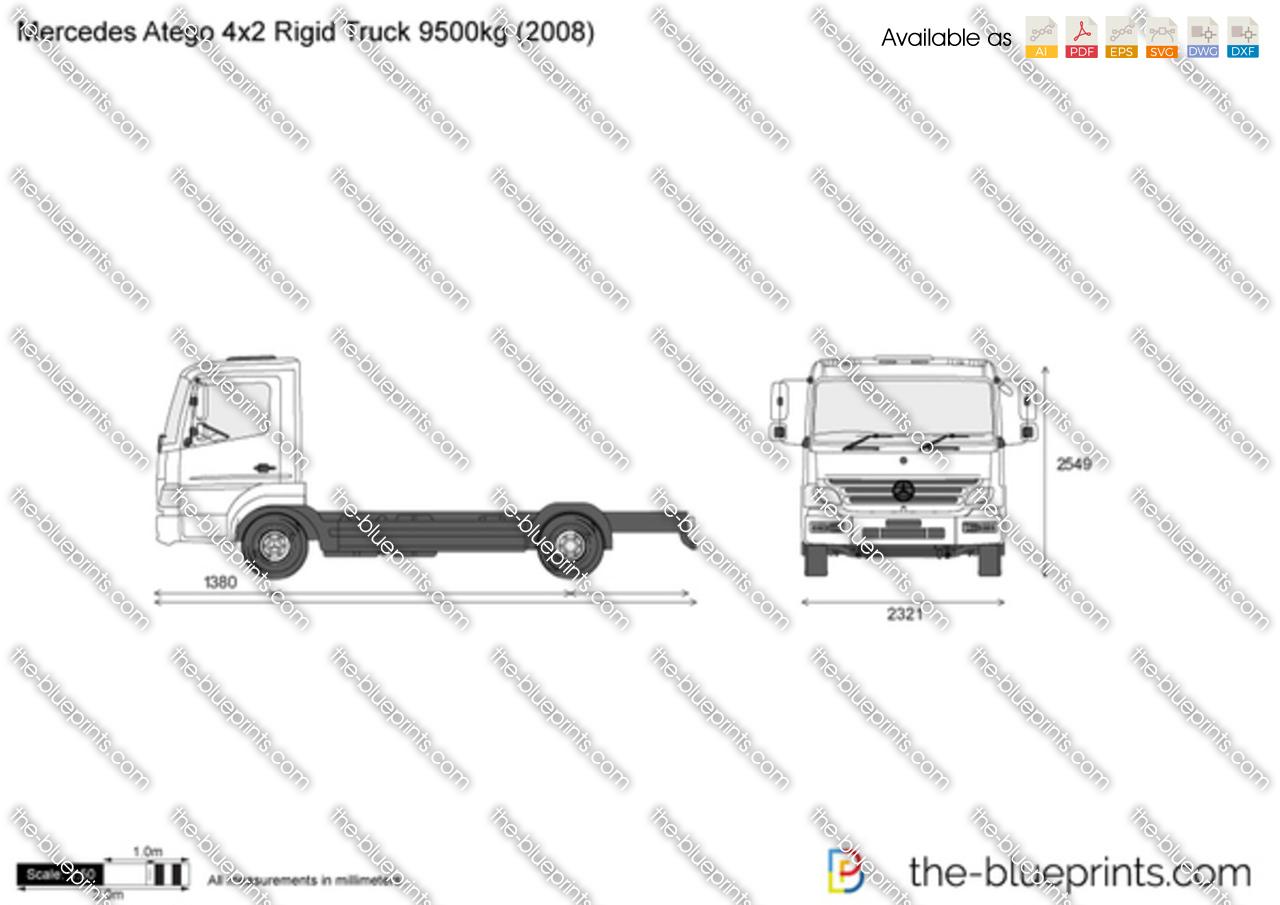 Mercedes-Benz Atego 4x2 Rigid Truck 9500kg
