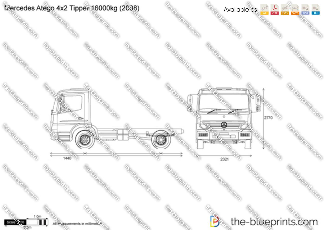 Mercedes-Benz Atego 4x2 Tipper 16000kg