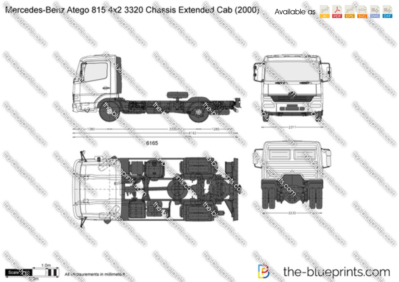Mercedes-Benz Atego 815 4x2 3320 Chassis Extended Cab