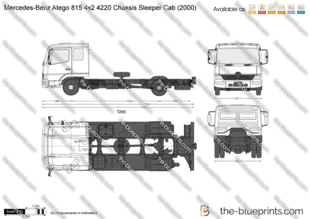 Mercedes-Benz Atego 815 4x2 4220 Chassis