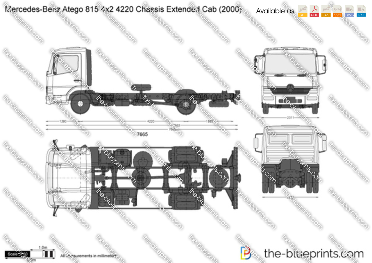 Mercedes-Benz Atego 815 4x2 4220 Chassis Extended Cab