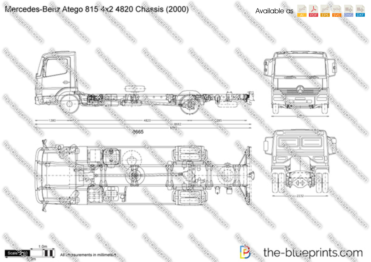 Mercedes-Benz Atego 815 4x2 4820 Chassis