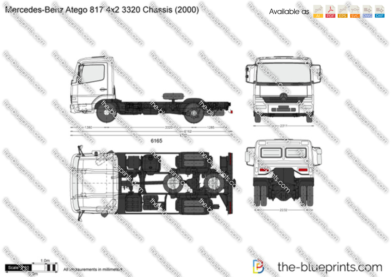 Mercedes-Benz Atego 817 4x2 3320 Chassis