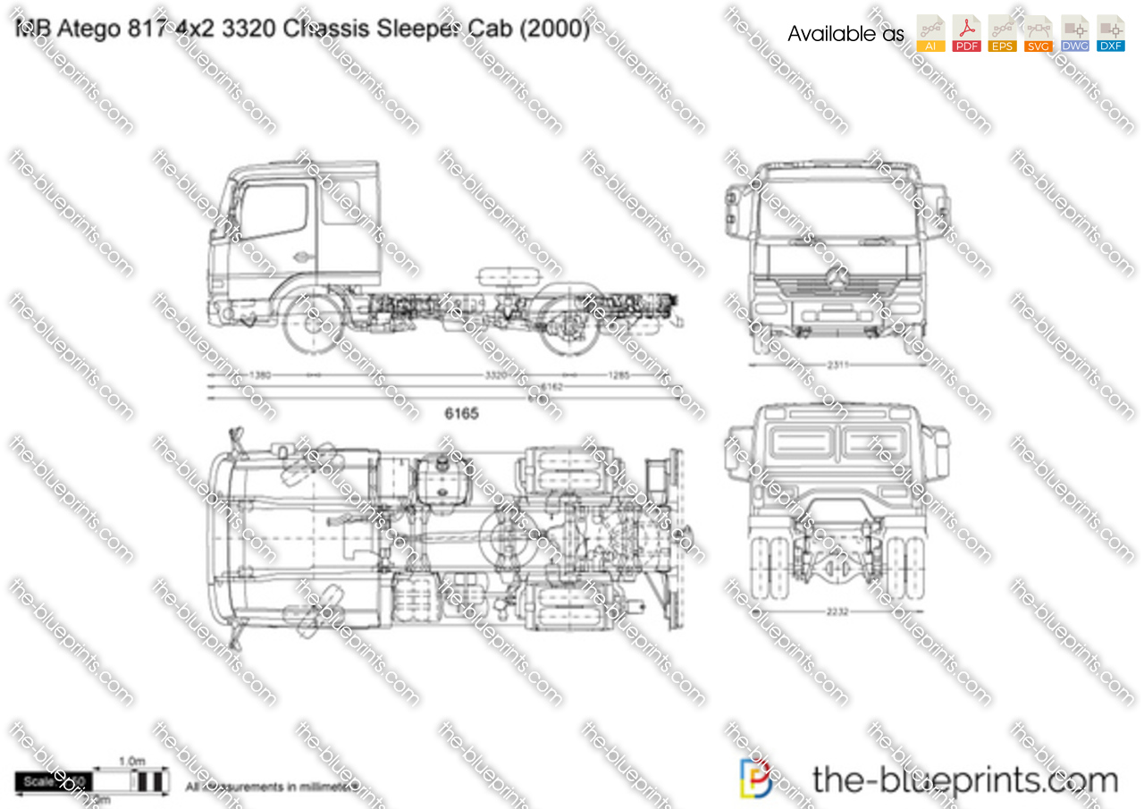 Mercedes-Benz Atego 817 4x2 3320 Chassis Sleeper Cab