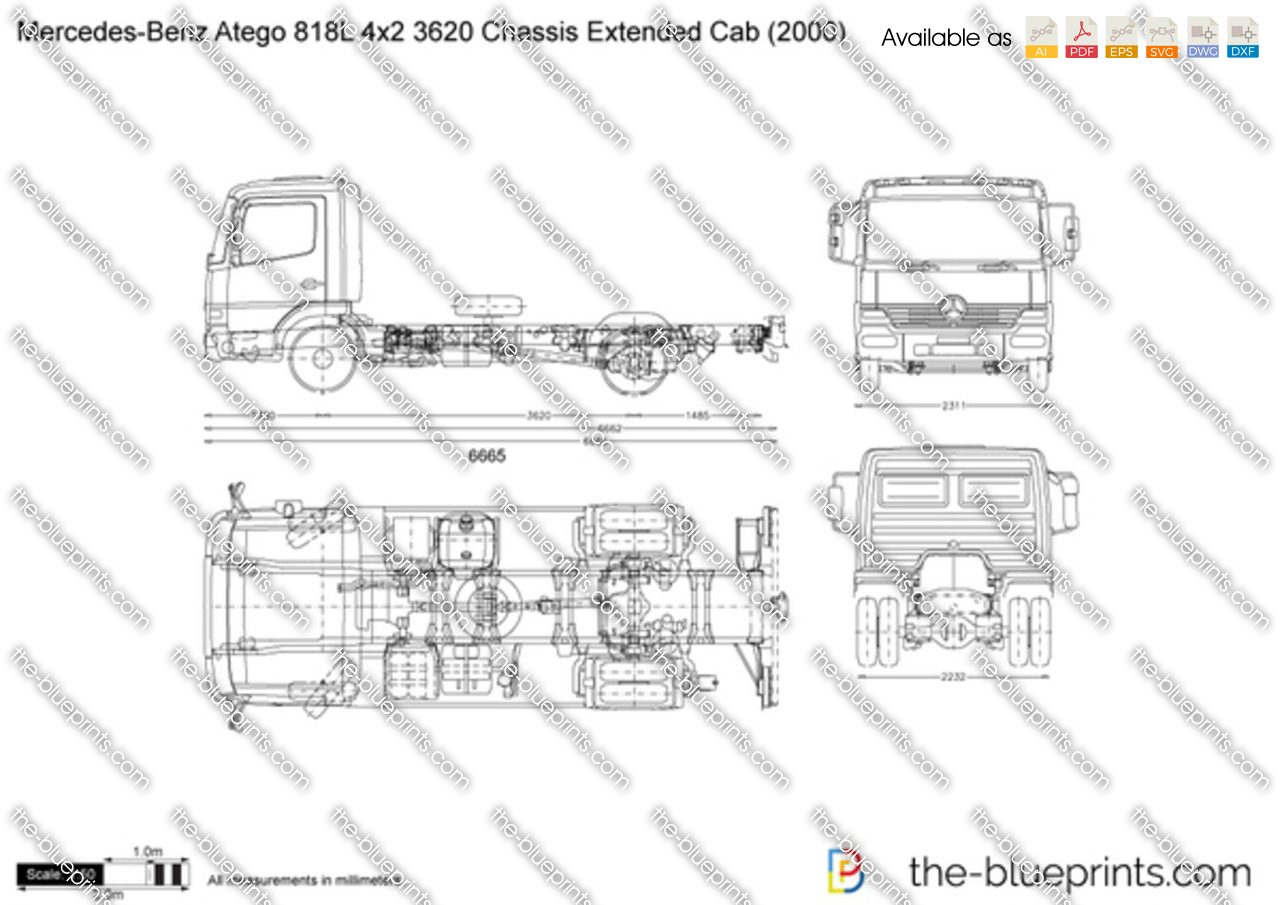 Mercedes-Benz Atego 818L 4x2 3620 Chassis Extended Cab