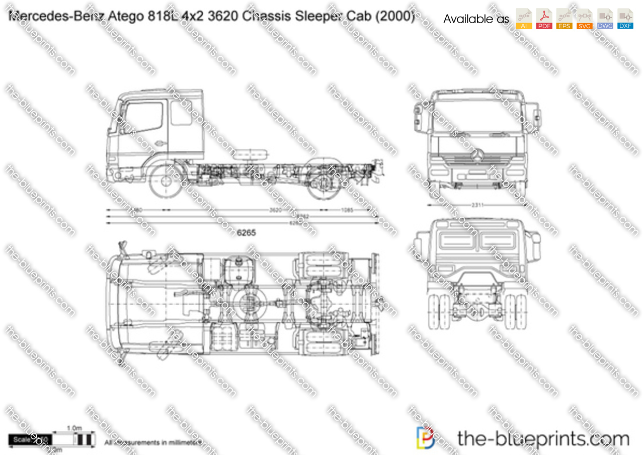 Mercedes-Benz Atego 818L 4x2 3620 Chassis Sleeper Cab