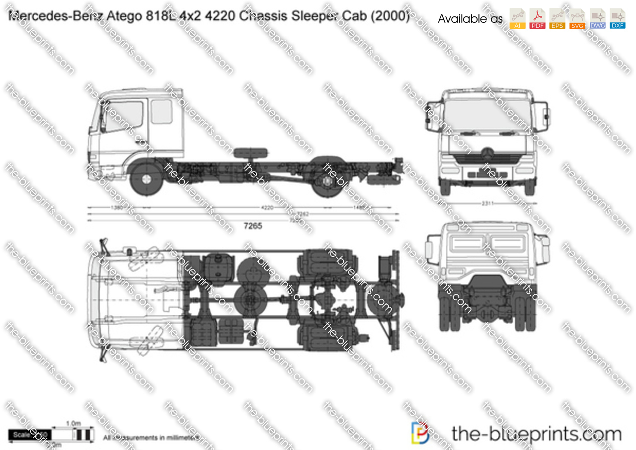 Mercedes-Benz Atego 818L 4x2 4220 Chassis Sleeper Cab